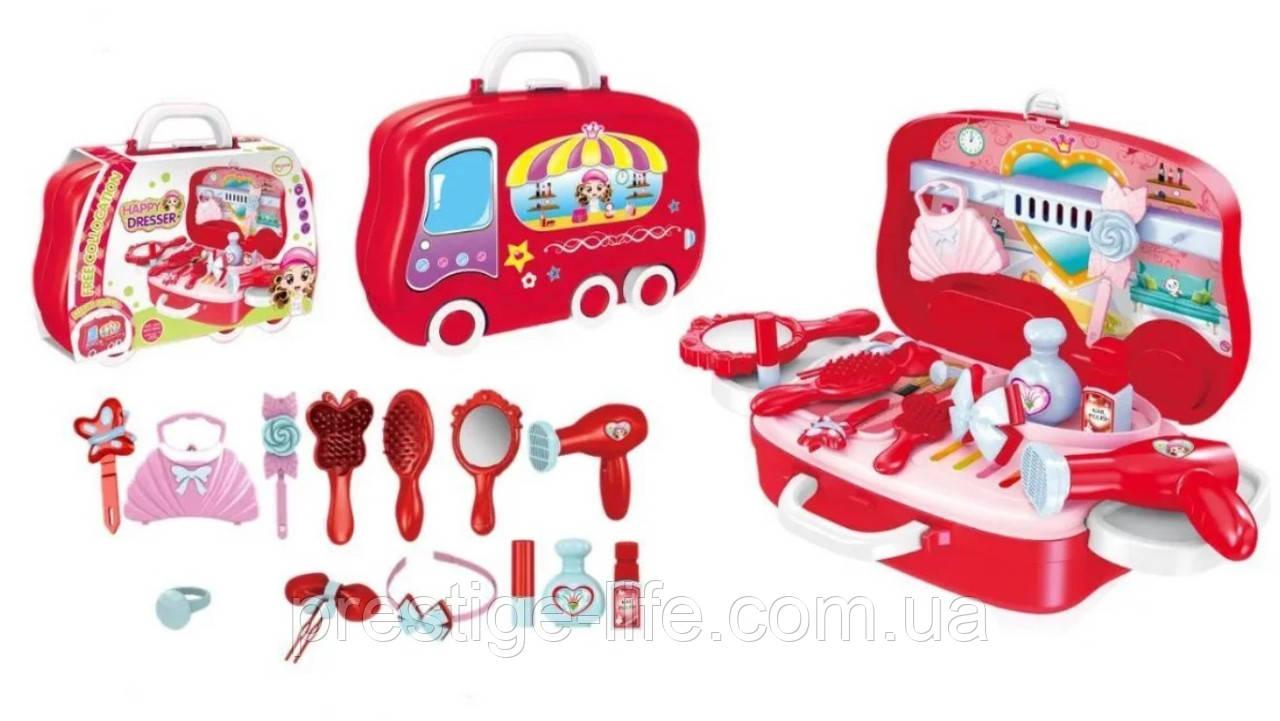 Детский игровой набор Юный стилист Happy Dresser для девочек в кейсе на колесиках