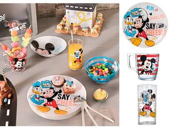 Набір посуду для хлопчика Luminarc Party Mickey 3пр