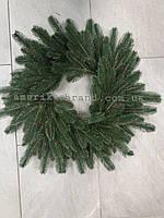 Венок литой Премиум рождественский хвойный искусственный зеленый