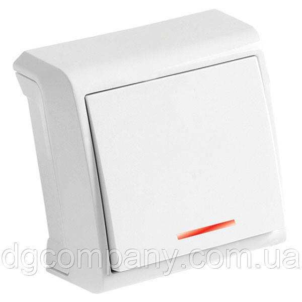 Выключатель накладной с подсветкой Viko Vera белый 90681090
