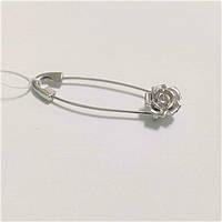 Шпилька з срібла з трояндочкою, фото 1