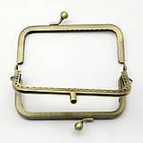 Фермуары металлические ажурные 6,5х10,5 см замок для кошелька бронза для рукоделия, фото 3
