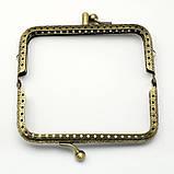 Фермуары металлические ажурные 6,5х10,5 см замок для кошелька бронза для рукоделия, фото 4