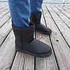 Чорні чоловічі уггі UGG еко шкіра високі черевики шкіряні чоботи зимові, фото 4