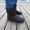 Чорні чоловічі уггі UGG еко шкіра високі черевики шкіряні чоботи зимові, фото 6