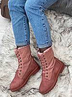 Ботинки женские зимние 8 пар в ящике розового цвета 36-41, фото 2