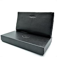 Мужской кожаный клатч-кошелёк H.T.Leather Чёрный (162-3)