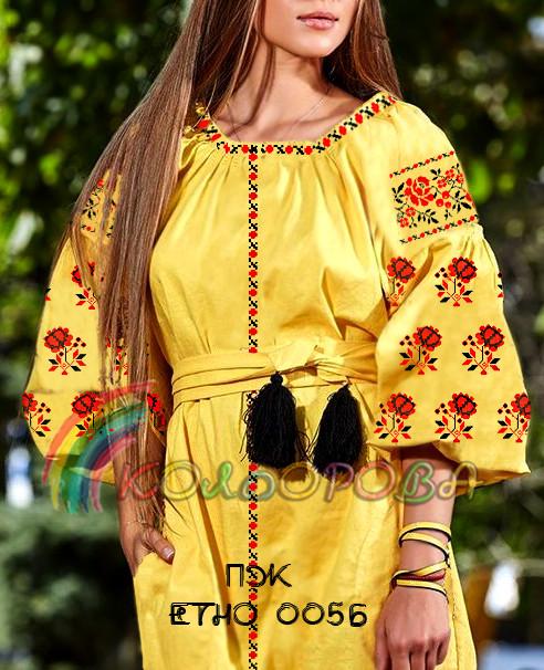 Заготовка жіночого плаття ПЖ-ЕТНО-005Б