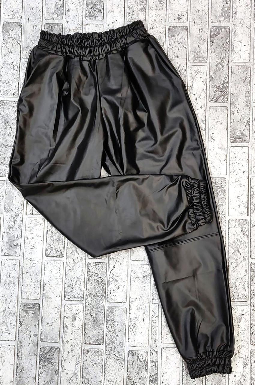 Свободные кожаные брюки спортивные (M-XL)