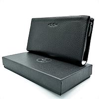 Мужской кожаный клатч-кошелёк H.T.Leather Чёрный (162-6)