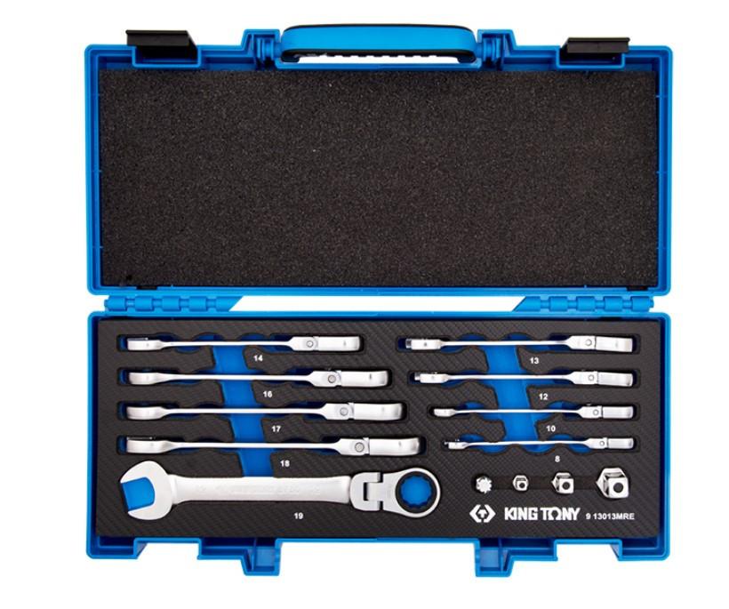 Набор ключей с трещоткой и карданом 13 предметов ЕВО