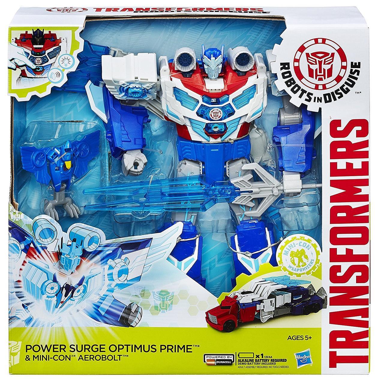 Transformers Optimus Prime  Заряжений Оптимус Прайм  (32 см Hasbro B7066 Роботы под прикрытием)