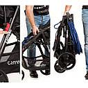 Детская прогулочная коляска темно-серая Carrello Maestro черная рама чехол на ножки подстаканник дождевик, фото 3