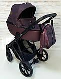 Детская универсальная коляска 2 в 1 Expander DEXO цвет Plum, водоотталкивающая ткань + эко-кожа D-42303, фото 2