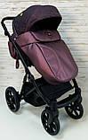 Детская универсальная коляска 2 в 1 Expander DEXO цвет Plum, водоотталкивающая ткань + эко-кожа D-42303, фото 3