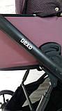 Детская универсальная коляска 2 в 1 Expander DEXO цвет Plum, водоотталкивающая ткань + эко-кожа D-42303, фото 5
