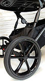 Детская универсальная коляска 2 в 1 Expander DEXO цвет Plum, водоотталкивающая ткань + эко-кожа D-42303, фото 7