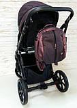 Детская универсальная коляска 2 в 1 Expander DEXO цвет Plum, водоотталкивающая ткань + эко-кожа D-42303, фото 8