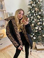 Женская зимняя двухсторонняя куртка Fendi Фенди