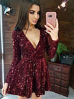 Платье вечернее в пайетку BRT2518