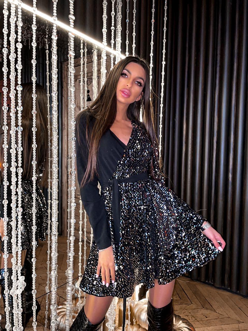 Платье вечернее блестящее с пайетками BRT2519