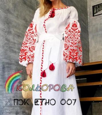 Заготовка жіночого плаття ПЖ-ЕТНО-007