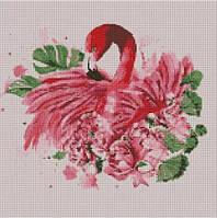 """Алмазная мозаика """"Грациозный фламинго"""" 40*40 см, ТМ Идейка (АМ6113)"""