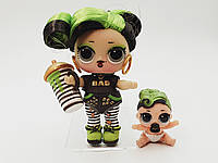 Семья Кукла LOL Surprise 5 Серия Bhaddie - Бади, Зеленка Hairgoals Лол Сюрприз Без Шара Оригинал