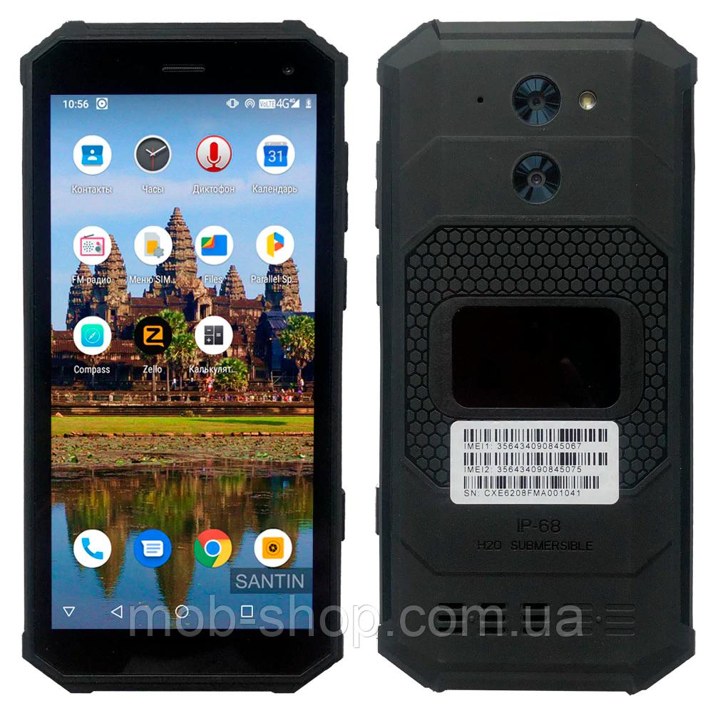 Смартфон Santin Armored P68 black 4/64 Гб IP68