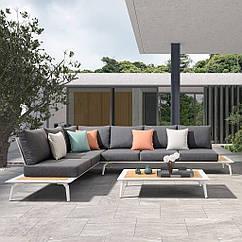 Модульный комплект мягкой мебели Kristi из двух диванов и журнального столика Rengard