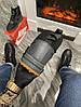 Мужские зимние кроссовки Nike Lunar Force 1 Duckboot '17 (Premium-class) серые с мехом, фото 4