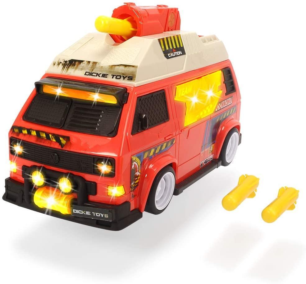 Автомобиль Кемпер с функцией стрельбы, со звуковыми и световыми эффектами Dickie Toys 3756004