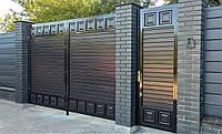 Металлические распашные ворота TM Hardwick ш3600 в2200 мм (дизайн Премиум), фото 1