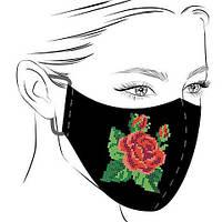 Маска чорна для вишивки Роза