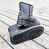 Угги черные мужские UGG эко кожа кожаные низкие короткие ботинки сапоги зимние, фото 2