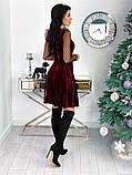 Нарядное барханое платье с рукавами изсетки 50-615, фото 9