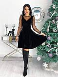 Нарядное барханое платье с рукавами изсетки 50-615, фото 8