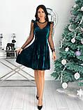 Нарядное барханое платье с рукавами изсетки 50-615, фото 6