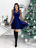 Нарядное барханое платье с рукавами изсетки 50-615, фото 5