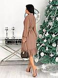 Шифоновое платье с длинным рукавом 50-617, фото 9