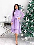 Шифоновое платье с длинным рукавом 50-617, фото 7