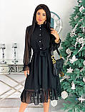 Шифоновое платье с длинным рукавом 50-617, фото 3
