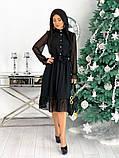 Шифоновое платье с длинным рукавом 50-617, фото 8