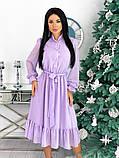 Шифоновое платье с длинным рукавом 50-617, фото 2