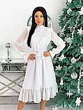 Шифоновое платье с длинным рукавом 50-617, фото 4