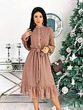 Шифоновое платье с длинным рукавом 50-617, фото 5