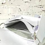 Сумка-почтальонка с декоративным плетением и съемной декором бахромой, фото 8