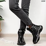 Кроссовки женские черные Зима 5593, фото 2