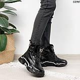 Кроссовки женские черные Зима 5593, фото 3