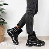 Кроссовки женские черные Зима 5593, фото 4